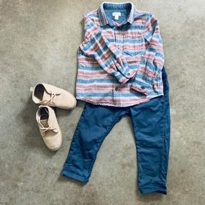 H&M 12 18 months Boys Pants ONLY Gray Blue